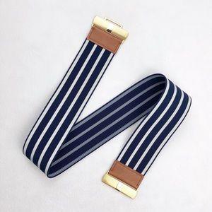 Lauren Ralph Lauren • Blue & White Striped Belt